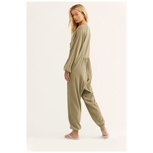 FREE PEOPLE Road Trip Onesie Army Green Size XS